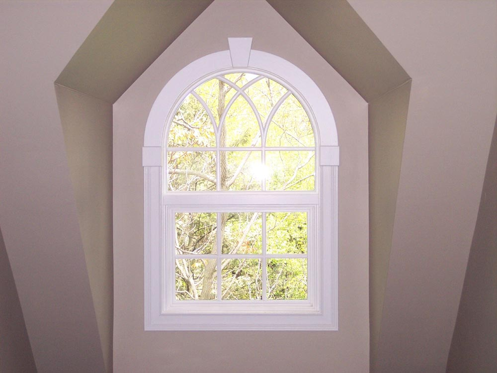 Double hung window photo gallery classic windows inc for Round top windows